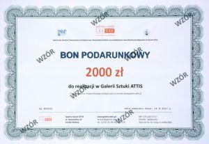 Bon prezentowy Bon podarunkowy - 2000 zł