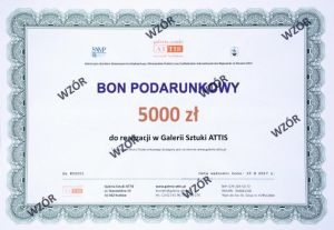 Bon prezentowy Bon podarunkowy - 5000 zł