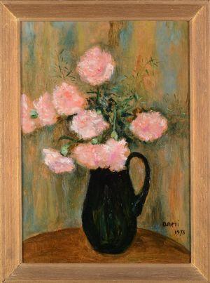 ANERI WEISS Irena Kwiaty w wazonie (1973)