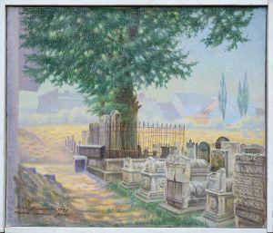 """CHRZANOWSKI Antoni Zabytkowy cmentarz przy bożnicy """"Remo"""" na Kazimierzu w Krakowie (1990)"""
