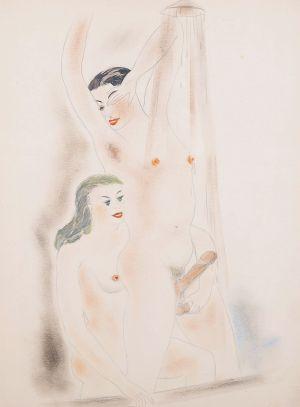 BRZESKI Janusz Maria Bez tytułu I z cyklu Hotel du Nord (1941)<br>(13 ilustracji oraz 13 tekstów)