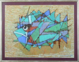 """MARCZUKIEWICZ Adam Zielona ryba z cyklu """"Ryby niespotykane"""" (2017)"""