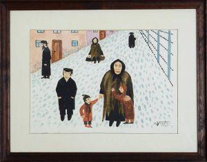 KOSTUR Karol Uliczka zimą (1981)