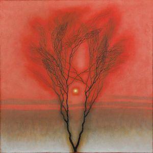 ZDOBYLAK Dawid Samotne drzewo, czerwień (2020)