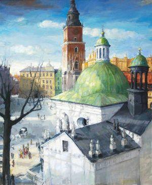 DROHOMIRECKI Mariusz Kraków - Rynek widok z pracowni