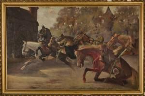 STUDENCKI Stanisław Spłoszone konie pod Barbakanem (1924)