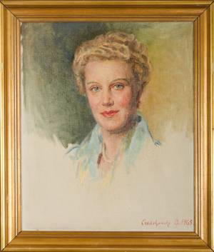 CZEDEKOWSKI Bolesław Jan Portret kobiety (1965)