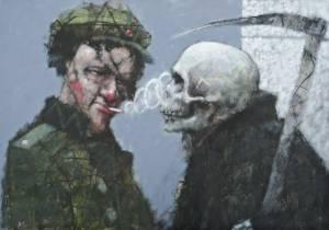 MARCZUKIEWICZ Adam Żołnierz puszczający kółka (śmierci prosto w twarz) (2012)