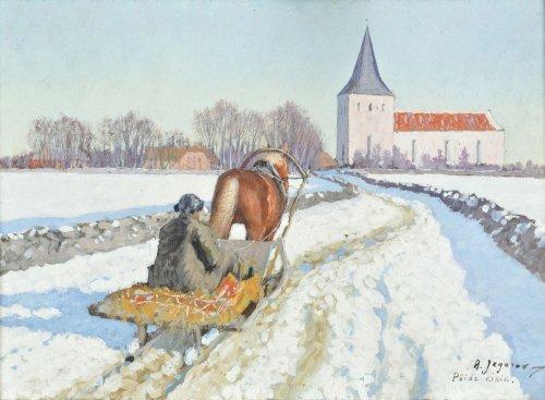 JEGOROW Andriej Afanasjewicz Podróż do kościoła w Pöide