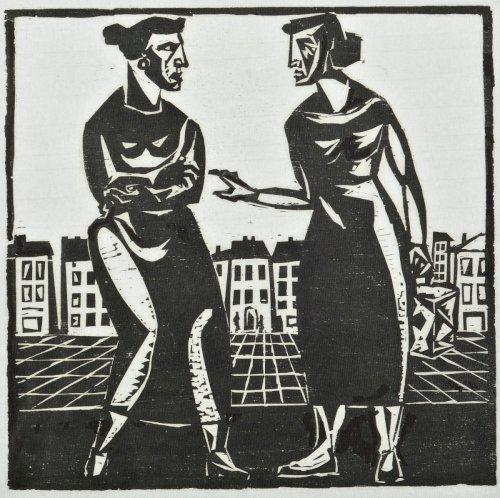 STERN Jonasz Dwie kobiety z cyklu Motywy Krakowa (ok. 1935)