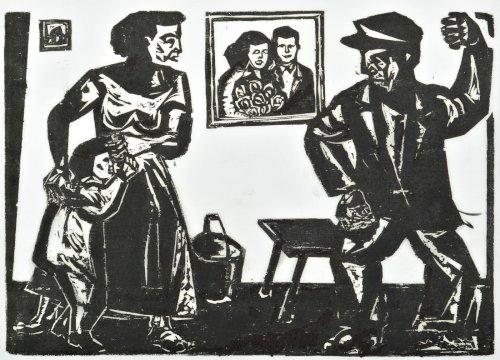STERN Jonasz Scena domowa z cyklu Motywy Krakowa (ok. 1935)