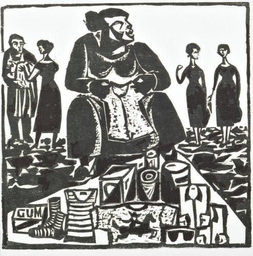 STERN Jonasz Siedząca kobieta z cyklu Motywy Krakowa (ok. 1935)