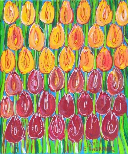 DWURNIK Edward Pomarańczowe tulipany