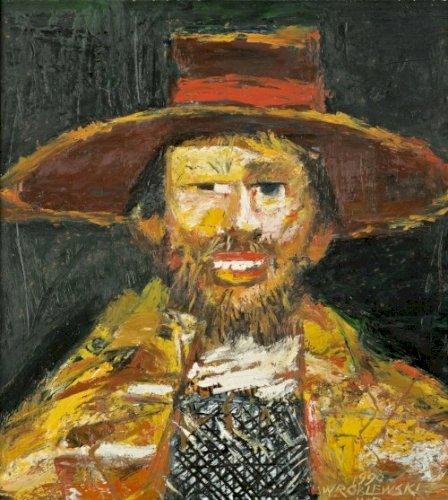 WRÓBLEWSKI Jerzy Portret w kapeluszu (1998)