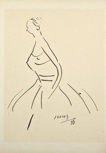 BRZESKI Janusz Maria W sukience (1956)