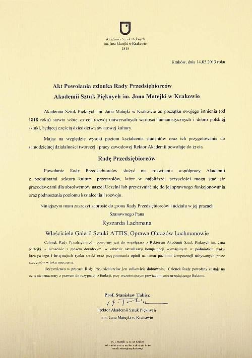 Nominacja Rada ASP